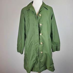 Lands End Green Lightweight Coat